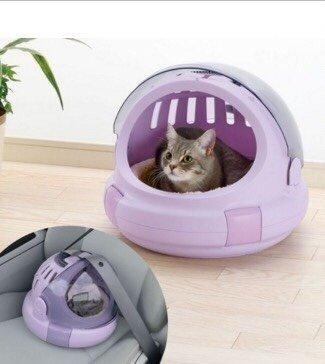利其爾 Richell 日本Corole厚絨座墊太空艙寵物提籃-M 8Kg寵物用 貓提籃 狗提籃 外出籠 外出提籃