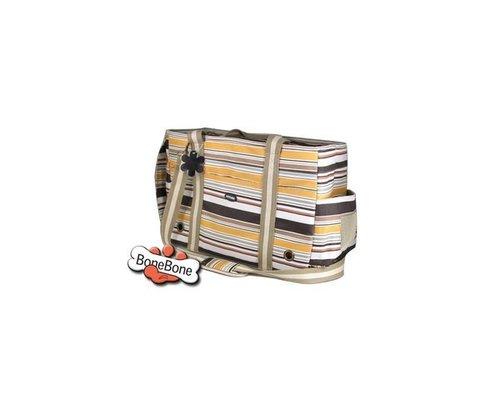 810840歐洲風格咖啡條紋寵物外出包(附肩帶 加大款)/寵物包包/寵物提袋