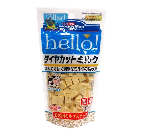 日本 DoggyMan《犬用 hello角切乳香牛奶塊》100g 寵物起司塊 狗用起司