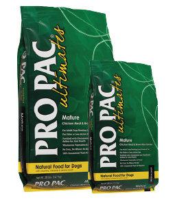 美國柏克PRO PAC天然糧-高齡犬(雞肉+糙米+藍莓)28LB/PK-0033熟齡犬飼料/老犬飼料/綠包裝