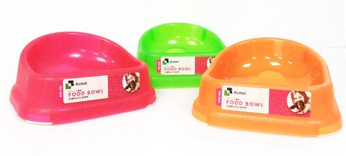 日本Richell利其爾-寵物用塑膠餐盤-M 三種顏色/寵物餐晚/寵物食盆/寵物餐碗/狗碗