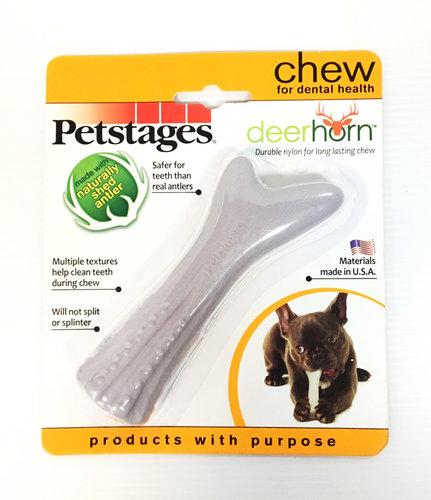 美國Petstages ORKA 668奇異鹿角/狗狗潔牙抗憂鬱耐咬玩具(S號) 約12cm