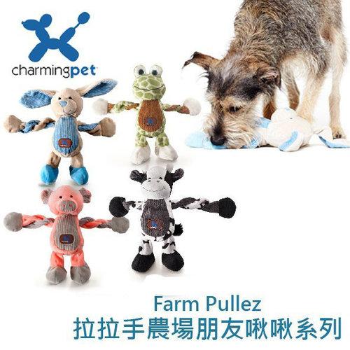美國charming pet 寵物玩具/啾啾聲 互動玩具 絨毛玩具 格子洞 拉繩結 怪獸系列 大腸圈