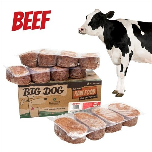 BIG DOG巴夫生食肉餅-公司貨付發票~犬用 牛肉/急速冷凍 此商品為冷凍配送/限單筆運費寄送/下標前請詢問現貨