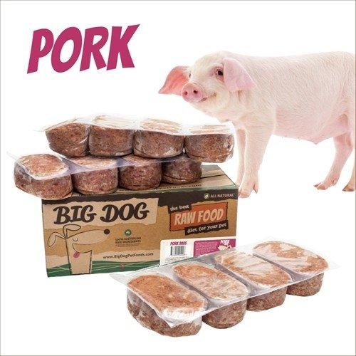BIG DOG巴夫生食肉餅-公司貨付發票~犬用 豬肉/急速冷凍 此商品為冷凍配送/限單筆運費寄送/下標前請詢問現貨