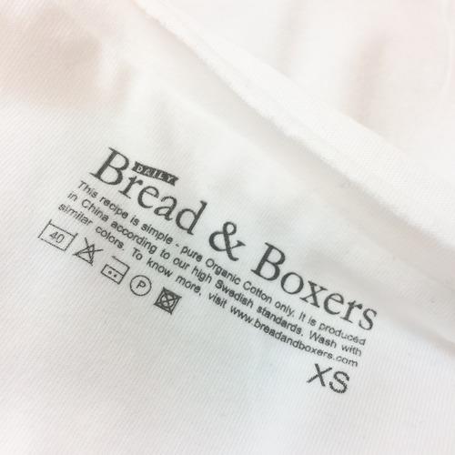 Bread&Boxers有機棉白色素T的正確洗衣方式,需遵照衣服洗標符號